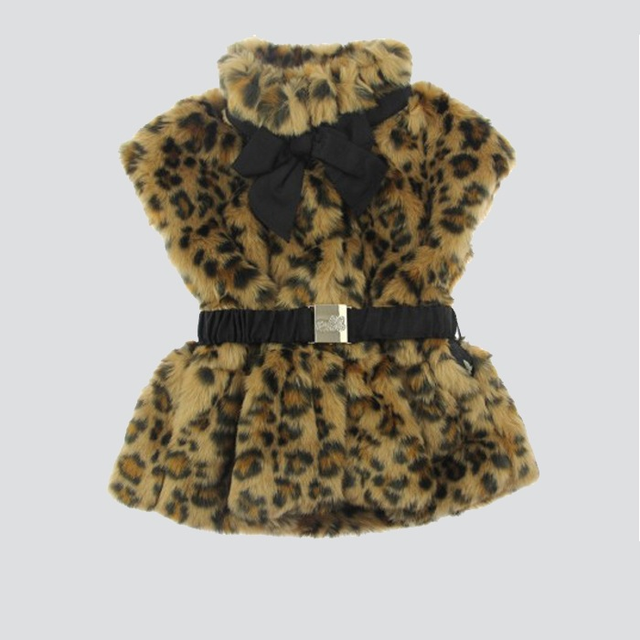 Junior Girl's Leopard Print Gilet