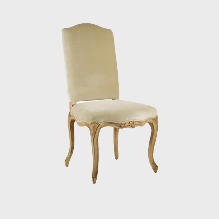 Velvet French Country Style Dining Chair