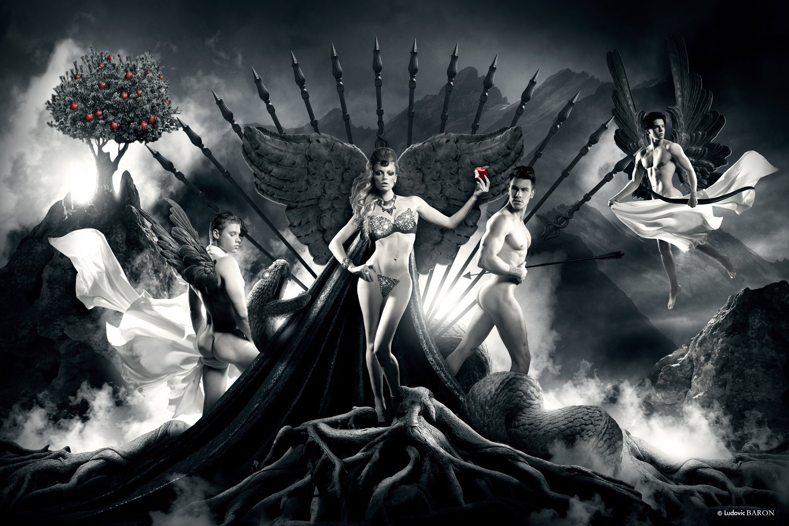 Tableau Eve et ses courtisans - Photographe Ludovic Baron 2013 (c) WEB