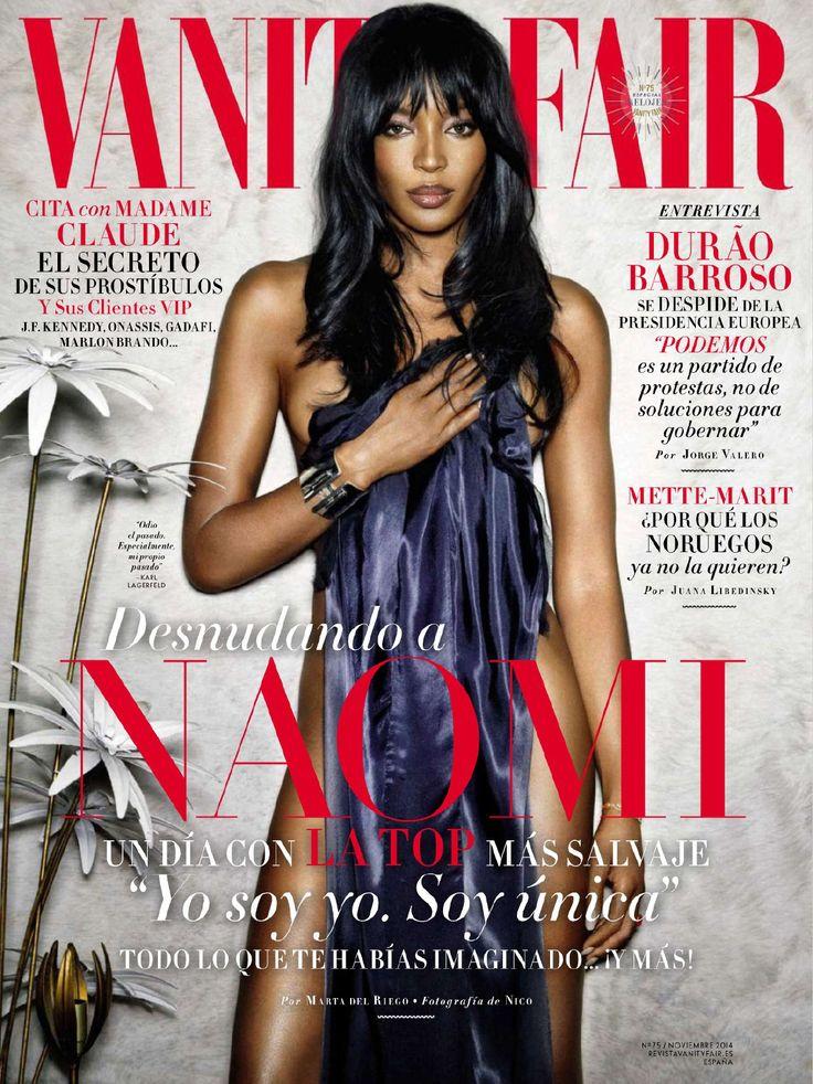 Naomi Campbell Covers Vanity Fair Espana November 2014