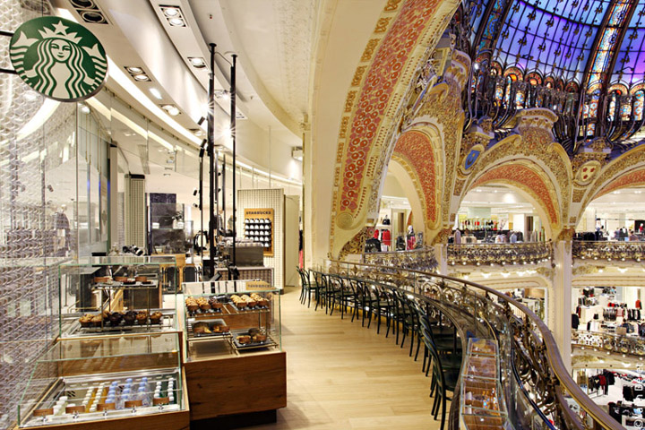 Starbucks-store-at-Galeries-Lafayette-La-coupole-Paris-01