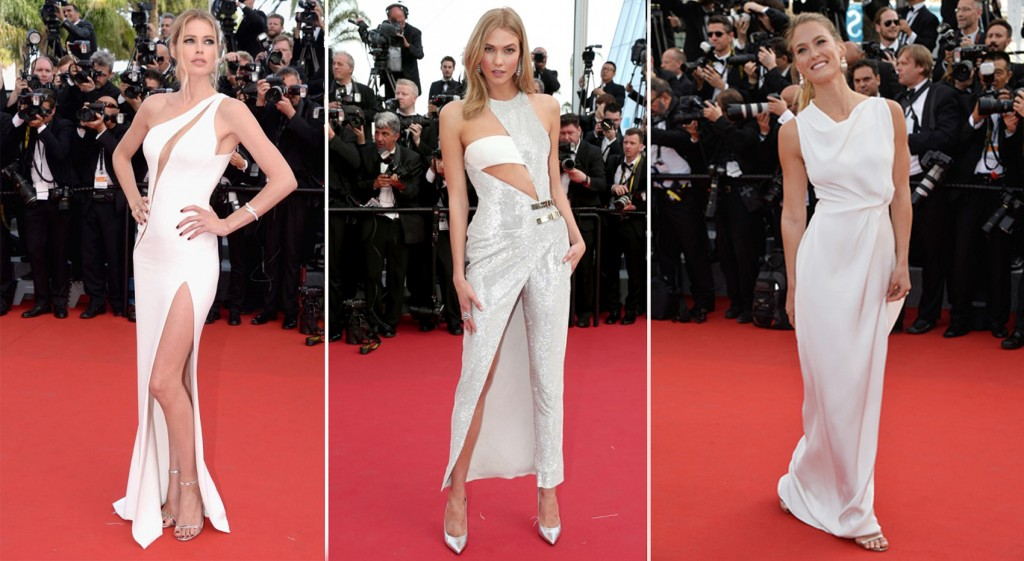 Red carpet cannes white
