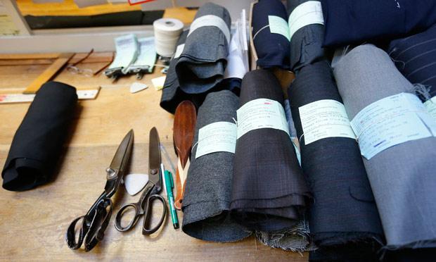 Rolls of cut cloth