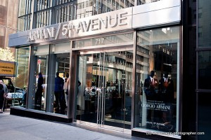 Giorgio Armani luxury fashion designer store at Fifth Avenue, Manhattan, New York City, USA,  shop, fashion, brand, chic