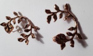 Brass foliage earclimbers